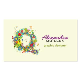 "Floral Monogram ""Q"" Initial Business Card"