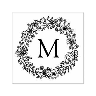 Floral Monogram Stamp