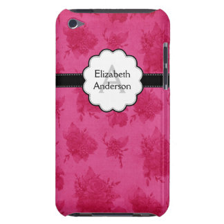 Floral Monogrammed Flowers Pink iPod Touch Case