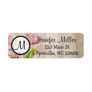 Floral Monogrammed Return Address Labels
