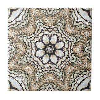 Floral Mosaic Nature Inspired Ceramic Tile