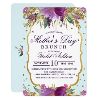 Floral Mother's Day Invitation