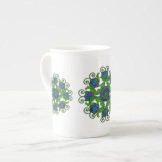 Floral Motif on Bone China Mug