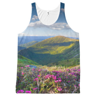Floral Mountain Landscape All-Over Print Tank Top