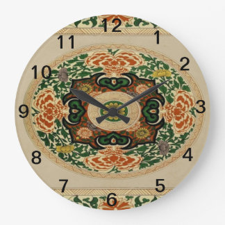 Floral Multi-Color Mandala Pattern Acrylic Clock
