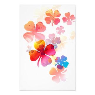 Floral- multiple pattern stationery design