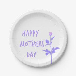 Floral Mum Paper Plate