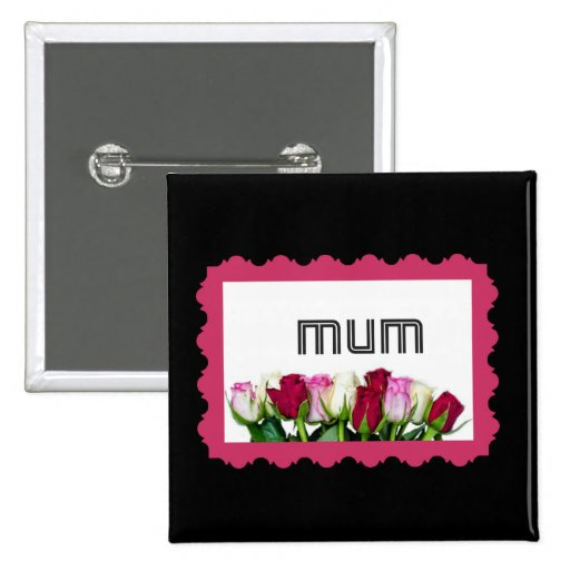 Floral Mum Stamp Pin