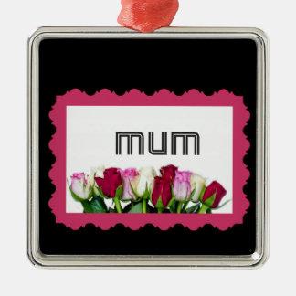 Floral Mum Stamp Christmas Ornament