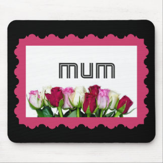 Floral Mum Stamp Mouse Pad