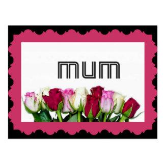 Floral Mum Stamp Postcard