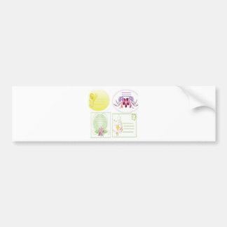 Floral name card set design bumper sticker