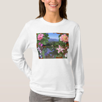 Floral Nature Collage T-Shirt
