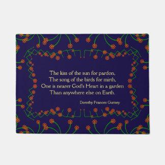 Floral Nearer God's Heart in a Garden Quote Doormat