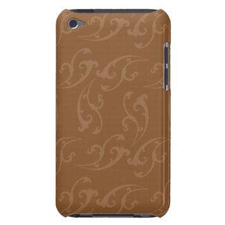 Floral Nouveau brown brown iPod Touch Cases