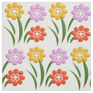 Floral nursery pattern fabric