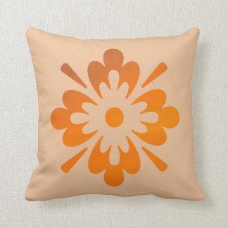 Floral Orange Sunset Sky Abstract Art Throw Pillow