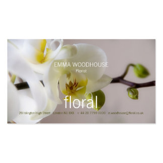 Floral - Orchid Business Card