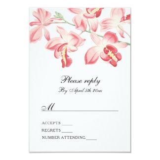 Floral orchid elegant modern wedding rsvp card