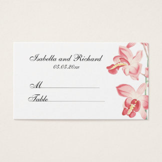 Floral orchid modern wedding seating place cards