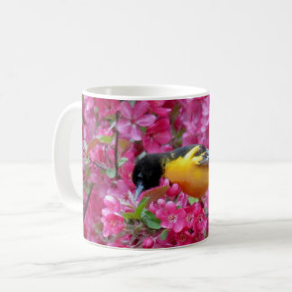 Floral Oriole - Bird Coffee Mug