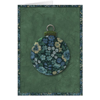 Floral Ornament Christmas Card