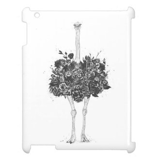 Floral ostrich cover for the iPad