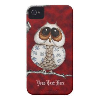 Floral Owl Red Blackberry Case