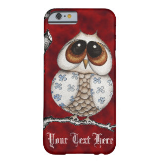 Floral Owl Red iPhone 6 case Barely There iPhone 6 Case