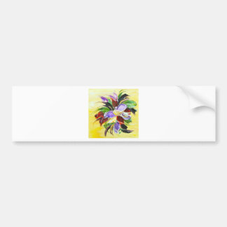 floral painting bumper stickers