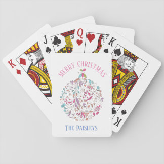 Floral Paisely Christmas Ornament /Playing Cards
