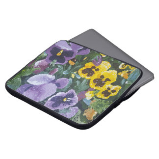 Floral Pansy Laptop Sleeve