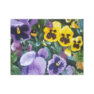 Floral Pansy Painting Canvas Print