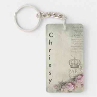 Floral Paris Double Sided Keychain