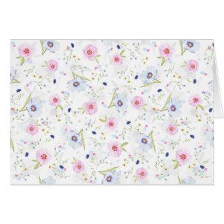 Floral Pastel Springtime Flowers Notecard