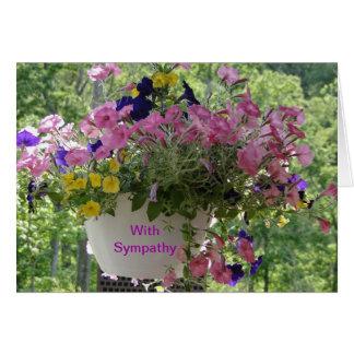 Floral Pastels, Sympathy Card