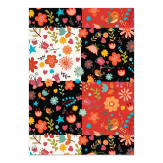 FLORAL PATCHWORK INVITATION CARDS