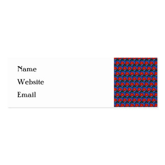 Floral Pattern Blue with Red Poppy Flower Business Card