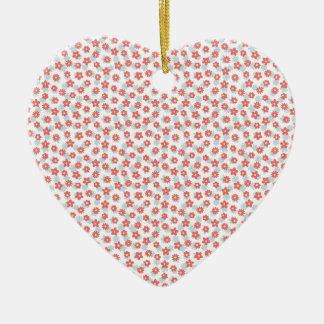 Floral Pattern Ceramic Heart Decoration