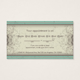 Floral Pattern Damask Elegant Appointment Cards