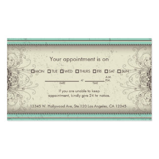 Floral Pattern Damask Elegant Appointment Cards Pack Of Standard Business Cards