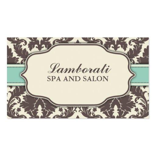 Floral Pattern Damask Elegant Classy Modern Retro Business Cards