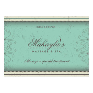 Floral Pattern Damask Elegant Referral Cards Pack Of Chubby Business Cards