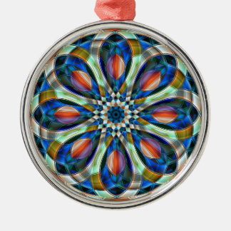 Floral pattern christmas ornament