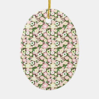 Floral pattern christmas tree ornaments