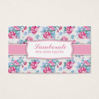 Floral Pattern Fashion Designer Stylist Elegant Business Card