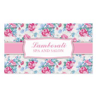 Floral Pattern Fashion Designer Stylist Elegant Pack Of Standard Business Cards