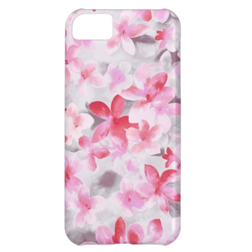 Floral pattern flowers abstract pink girl iPhone 5C case