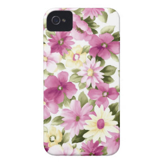 Floral pattern flowers abstract pink girl iPhone 4 cases