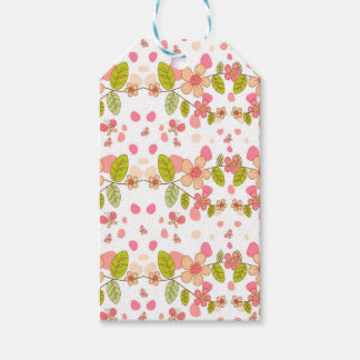 Floral pattern gift tags